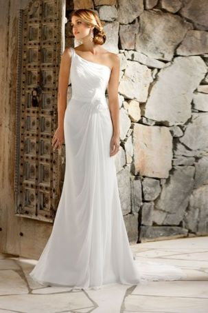 50 One Shoulder Bridal Dresses Ideas 43