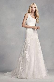 50 One Shoulder Bridal Dresses Ideas 50