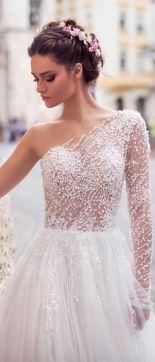 50 One Shoulder Bridal Dresses Ideas 51