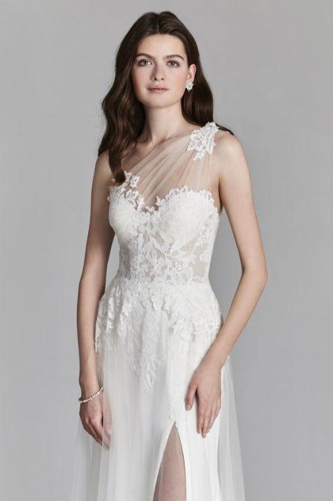 50 One Shoulder Bridal Dresses Ideas 9