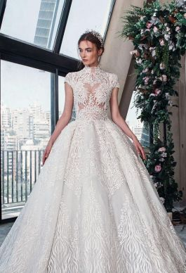 50 Simple Glam Victorian Neck Style Bridal Dresses Ideas 2