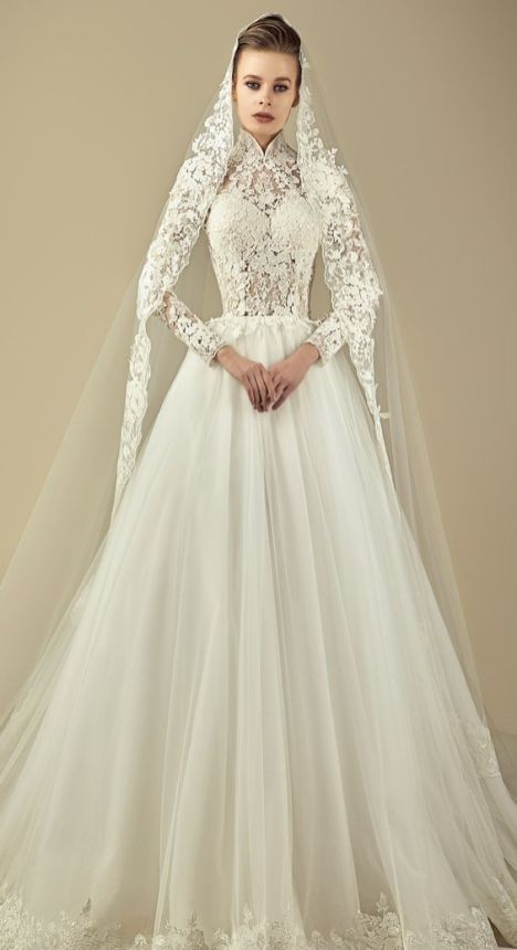 50 Simple Glam Victorian Neck Style Bridal Dresses Ideas 21