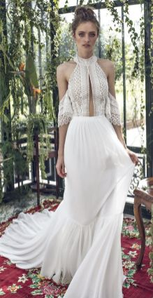 50 Simple Glam Victorian Neck Style Bridal Dresses Ideas 22