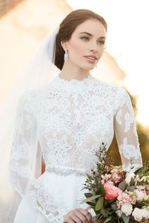 50 Simple Glam Victorian Neck Style Bridal Dresses Ideas 30
