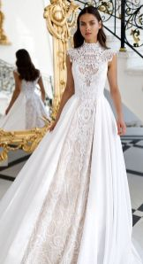50 Simple Glam Victorian Neck Style Bridal Dresses Ideas 32