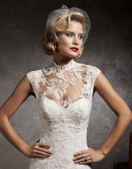 50 Simple Glam Victorian Neck Style Bridal Dresses Ideas 48
