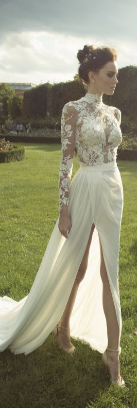 50 Simple Glam Victorian Neck Style Bridal Dresses Ideas 52