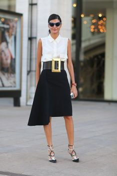 50 Ways to Wear Perfect Black and White in Fashion Ideas 24