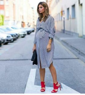 50 Comfy and Stylish Maternity Outfits Street Style Looks 46
