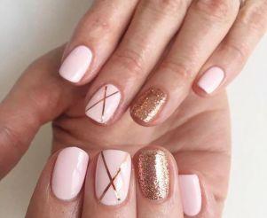50 Glam Gold Girly Nail Art Looks Ideas 1