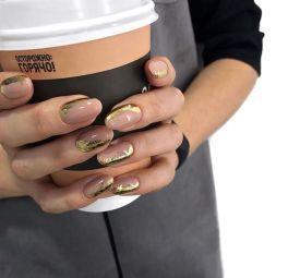 50 Glam Gold Girly Nail Art Looks Ideas 15
