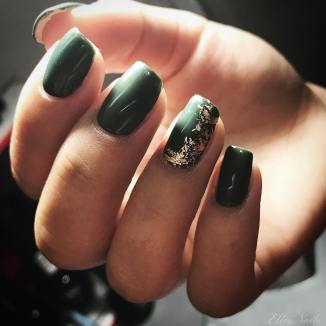 50 Glam Gold Girly Nail Art Looks Ideas 17