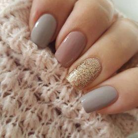50 Glam Gold Girly Nail Art Looks Ideas 20
