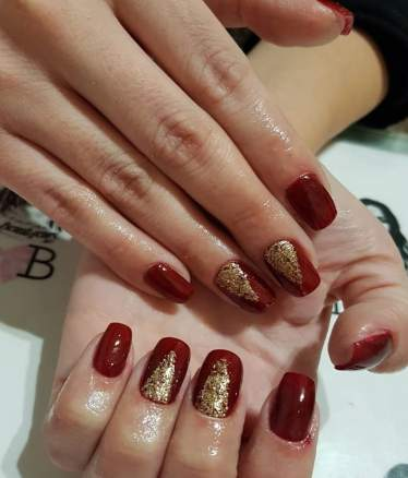 50 Glam Gold Girly Nail Art Looks Ideas 24