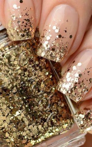 50 Glam Gold Girly Nail Art Looks Ideas 3