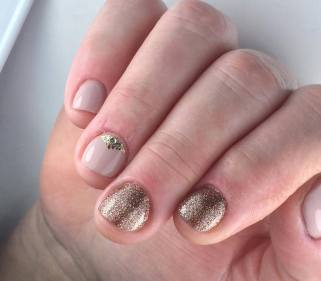 50 Glam Gold Girly Nail Art Looks Ideas 37
