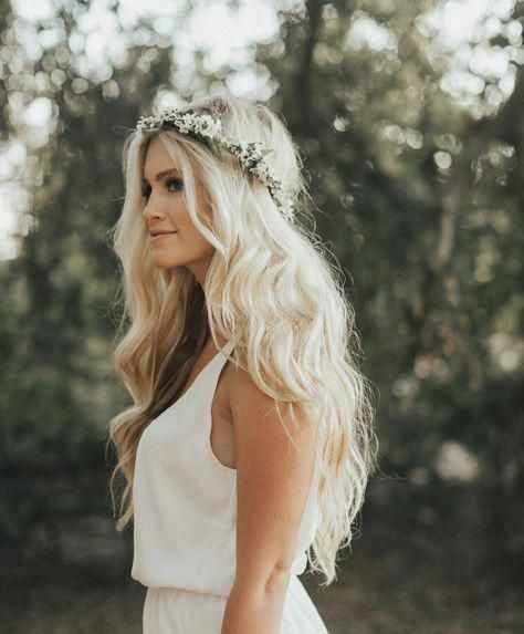 50 Natural Loose Hairstyle Looks for Brides Ideas 10