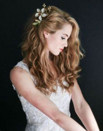 50 Natural Loose Hairstyle Looks for Brides Ideas 28