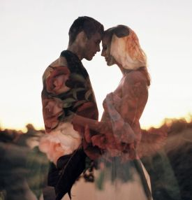 50 Romantic Wedding Double Exposure Photos Ideas 12