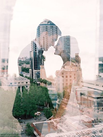 50 Romantic Wedding Double Exposure Photos Ideas 26