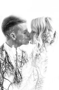 50 Romantic Wedding Double Exposure Photos Ideas 27