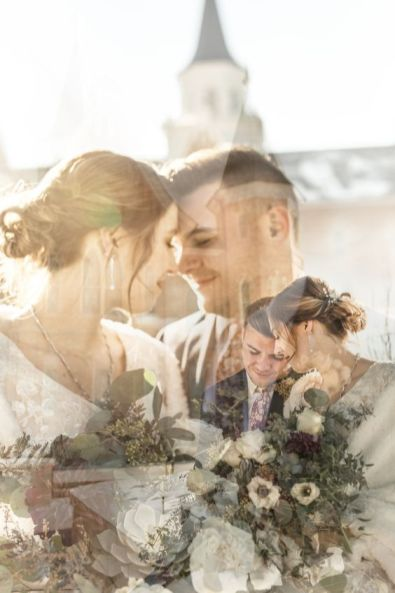 50 Romantic Wedding Double Exposure Photos Ideas 36