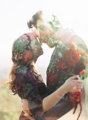 50 Romantic Wedding Double Exposure Photos Ideas 4