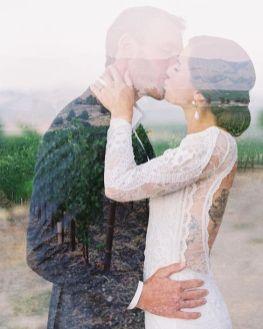 50 Romantic Wedding Double Exposure Photos Ideas 44