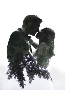 50 Romantic Wedding Double Exposure Photos Ideas 47