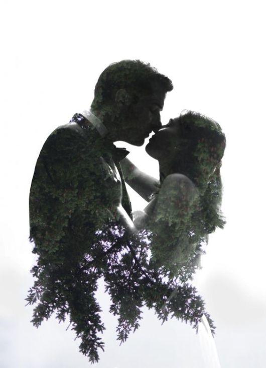 50 Romantic Wedding Double Exposure Photos Ideas 47
