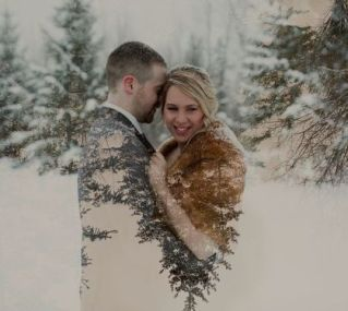 50 Romantic Wedding Double Exposure Photos Ideas 50