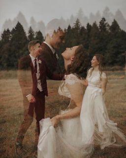 50 Romantic Wedding Double Exposure Photos Ideas 51