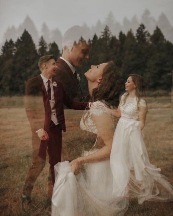 50 Romantic Wedding Double Exposure Photos Ideas 51