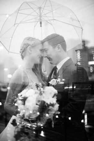 50 Romantic Wedding Double Exposure Photos Ideas 54