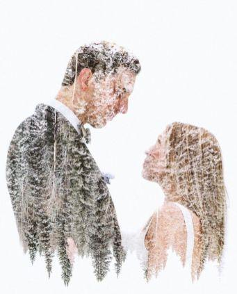 50 Romantic Wedding Double Exposure Photos Ideas 7