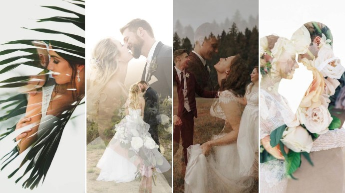 50 Romantic Wedding Double Exposure Photos Ideas
