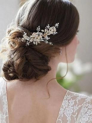 40 How Elegant Wedding Hair Accessories Ideas 16