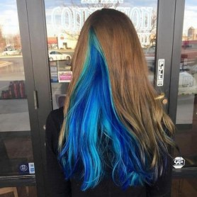 50 Best Peek A Boo Hair Color Ideas 38
