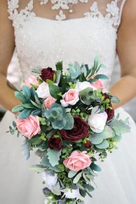 Best Romantic Peony Wedding Bouquet Inspiration 24
