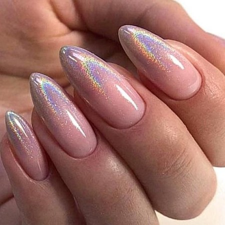 Inspiring Almond Shaped Nail for Girls 10