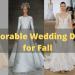 Adorable Wedding Dresses for Fall