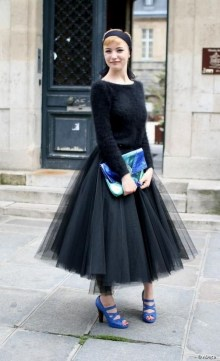 40 Simple Glam Black Tulle Skirt Outfits Ideas 14