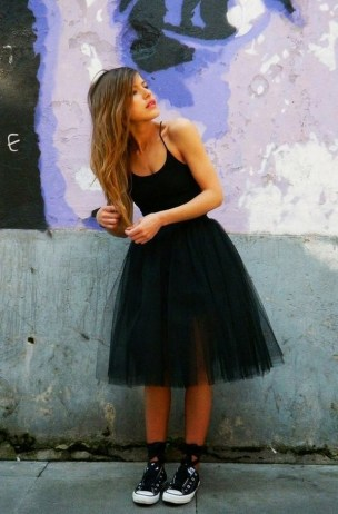 40 Simple Glam Black Tulle Skirt Outfits Ideas 31