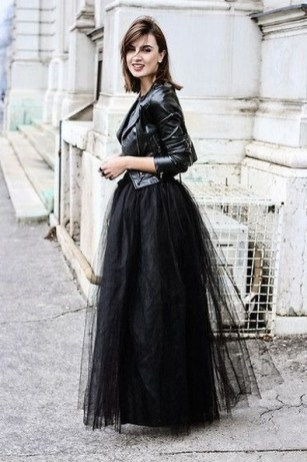 40 Simple Glam Black Tulle Skirt Outfits Ideas 33