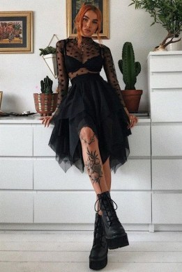 40 Simple Glam Black Tulle Skirt Outfits Ideas 34