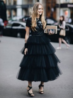 40 Simple Glam Black Tulle Skirt Outfits Ideas 9