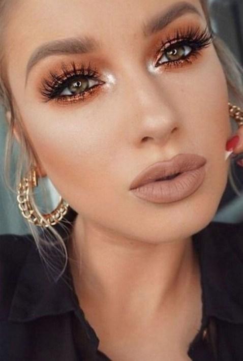 49 Ideas Glam Valentines Night Makeup Look 44