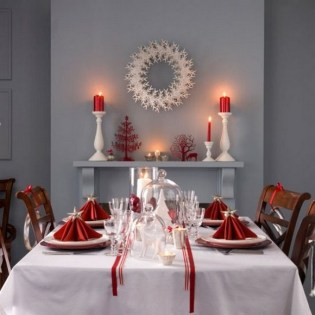 50 How to Arrange a Dining Table for Christmas Occasion 12