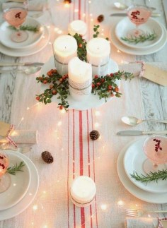 50 How to Arrange a Dining Table for Christmas Occasion 27