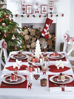 50 How to Arrange a Dining Table for Christmas Occasion 6